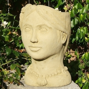 Concrete Island Princess Planter - Head Planter | Original Design | Durable | 5 Colors | Made in America | Ships Nationwide | concrete Pottery | Concrete Head Planter | Head Pottery | Arizona Pottery