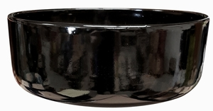 Color Garden Bowl #1 Gloss Black - Bright Glossy Black Garden Bowl | Tabletop Pottery & Planters | Perfect for Succulents | High Shine Finish | Arizona Pottery | Ships Nationwide
