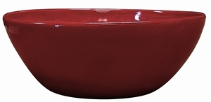 Garden Low Bowl #10 Love Red - Garden Bowls | High Shine Glossy Glaze | Colorful & Decorative Planters  | Perfect For Tabletop Display |  Many Sizes | Ships Nationwide | Arizona Pottery