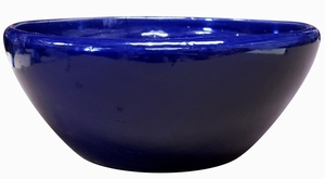 Garden Low Bowl #7 Cobalt Blue - Garden Bowls | High Shine Glossy Glaze | Colorful & Decorative Planters  | Perfect For Tabletop Display |  Many Sizes | Ships Nationwide | Arizona Pottery