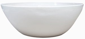 Garden Low Bowl #2 Gloss White - Garden Bowls | High Shine Glossy Glaze | Colorful & Decorative Planters  | Perfect For Tabletop Display |  Many Sizes | Ships Nationwide | Arizona Pottery