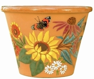 Daisy Hand Painted - Hand Painted Garden & Animal Design Pottery | Durable | Colorful | Beautiful | Great Gifts