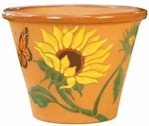Sunflower Hand Painted - Hand Painted Garden & Animal Design Pottery | Durable | Colorful | Beautiful | Great Gifts