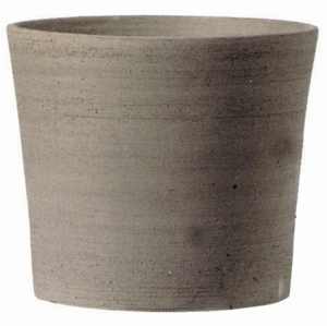 Italian Grey Cylinder Planter - Cylinder Gray Real Terracotta Clay Garden Planter | Made in Italy | Pots