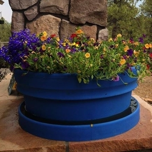 Poly Resin Low Rolled Rim - Lightweight Poly Resin Low Rolled Rim Garden Planter | Made in America | 32 Colors | Durable & Unique Yard & Patio Pottery from Arizona Pottery