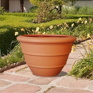 Poly Resin Urn Planter - Lightweight Home & Garden Flowerpots & Containers from Arizona Pottery.  Made in America | 32 Colors | Durable & Stylish | Tapered Bell Style with Ridges