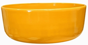 Color Garden Bowl #47 Citrus Orange - Bright Glossy Orange Garden Bowl | Tabletop Pottery & Planters | Perfect for Succulents | High Shine Finish | Arizona Pottery | Ships Nationwide