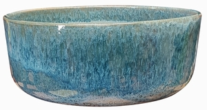 Garden Color Bowl #61 Arctic Blue - Bright Glossy Artic Blue Garden Bowl | Tabletop Pottery & Planters | Perfect for Succulents | High Shine Finish | Arizona Pottery | Ships Nationwide
