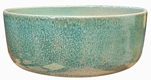 Color Garden Bowl #62 Aqua Green - Bright Glossy Aqua Green Garden Bowl | Tabletop Pottery & Planters | Perfect for Succulents | High Shine Finish | Arizona Pottery | Ships Nationwide