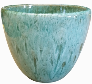 Liberty Bell Garden Planter #62 Aqua Green - High Shine Aqua Green Glossy Glazed Flower Pot | Tapered Planter In Many Sizes | Home & Garden Pottery from Arizona Pottery | Ships Nationwide