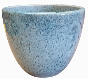 Liberty Bell Garden Planter #61 Arctic Blue - High Shine Artic Blue Glossy Glazed Flower Pot | Tapered Planter In Many Sizes | Home & Garden Pottery from Arizona Pottery | Ships Nationwide