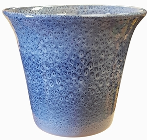 Spanish Garden Planter #61 Arctic Blue - Blue  Gloss Garden Container | Colorful Flower Pots & Garden Pottery | Spanish Style Planters | Flared Top with Tapered Base Glazed Pot | Arizona Pottery