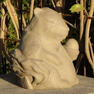 Concrete Meditating Squirrel Garden Statue