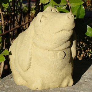 Concrete Fat Barn Dog Garden Statue