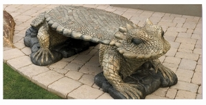 Decorative Garden Bench Horned Toad