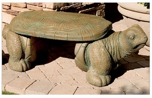 Decorative Garden Bench Turtle