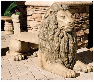 Decorative Garden Bench Lion