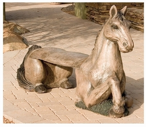 Decorative Garden Bench Horse