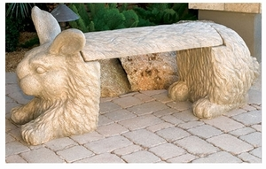 Decorative Garden Bench Rabbit