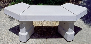 Concrete Keystone Curved Bench