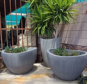 Concrete Serenity Pot - American Made | Concrete Planters & Pottery | Ships Nationwide  |  Arizona Pottery