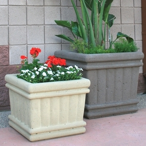 Concrete Tuscany Square - American Made | Concrete Planters & Pottery | Ships Nationwide  |  Arizona Pottery