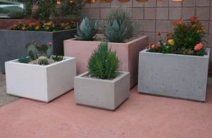Concrete Modern Rectangle Pots