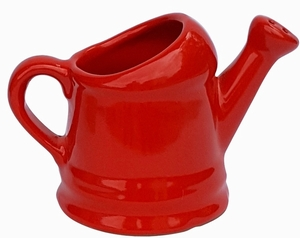 Watering Can Planter Red