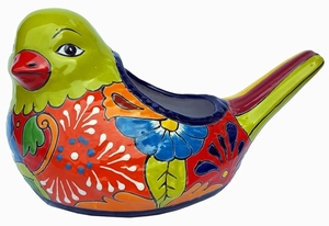 Talavera Fat Bird Lime Planter
