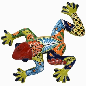 Talavera Frog Red - Mexican Frog | Talavera | Wall Art | Home and Garden
