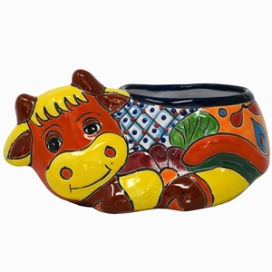 Talavera Small Cow Red/Yellow