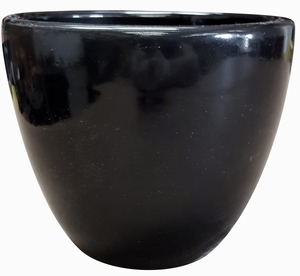 Liberty Bell Garden Planter #1 Gloss Black - High Shine Black Glossy Glazed Flower Pot | Tapered Planter In Many Sizes | Home & Garden Pottery from Arizona Pottery | Ships Nationwide