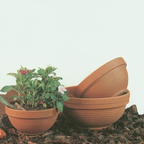 Garden Bowl Shaped Flowerpots Made In Italy Planters