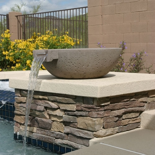 Concrete Scupper Pool Amp Water Pots Arizona Pottery