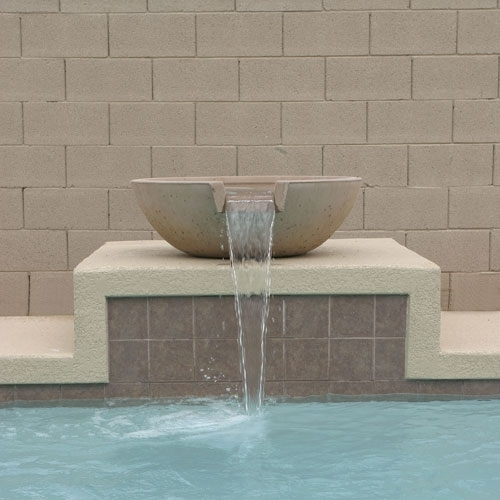 Concrete Scupper Pool Amp Water Pots Arizona Pottery