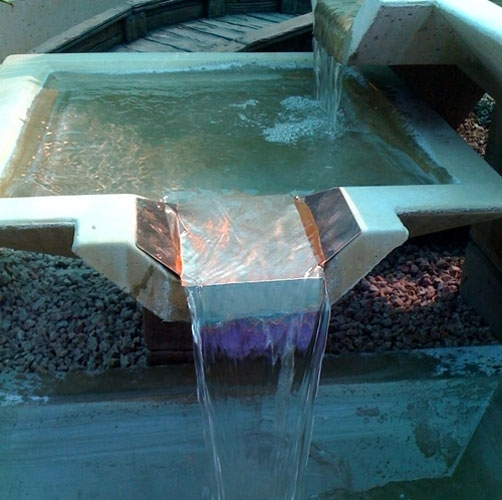 Oblique Concrete Scuppers For Swimming Pools Arizona Pottery