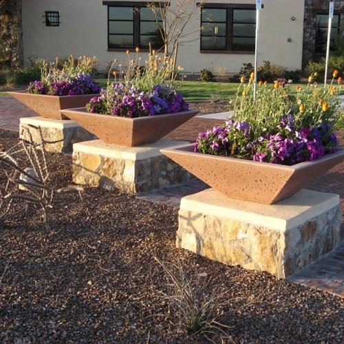 Concrete Garden Planter Amp Pots Outdoor Pottery Square