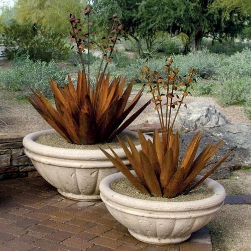 Concrete Tuscany Bowl Garden Planter & Pots