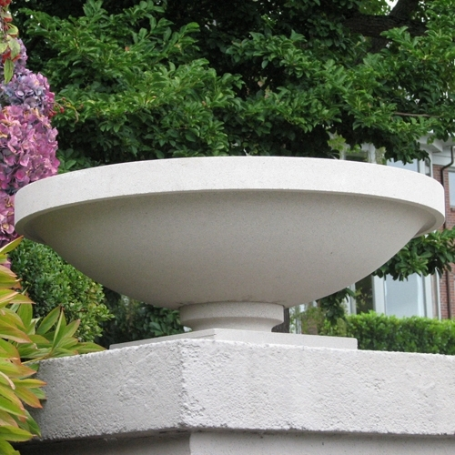 Frank Lloyd Wright Bowl Shaped Sandstone Garden Planters