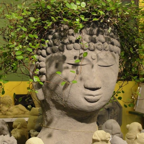 Buddha Head Shaped Flower Pots