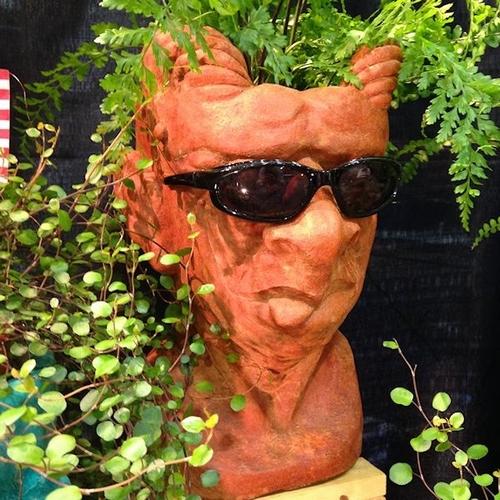 Head Shaped Flower Pot For Home & Garden